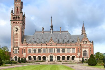 International court of justice in the Hague, Netherlands